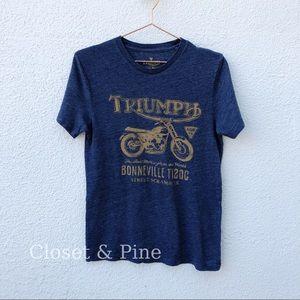 Lucky Brand Triumph Bonneville Motorcycle Tee S